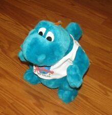 "Planet Hollywood Bubba the Blue Dinosaur Plush Animal 10"""