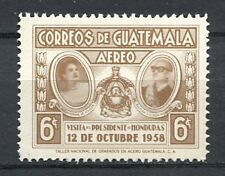 37299) GUATEMALA 1959 MNH** President R. Villeda Morales