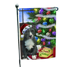 Christmas Happy Holiday American Staffordshire Terrier Dog Garden Flag Gflg53499