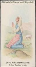 santino-holy card AIGUEBELLE-VITA DI S.BERNADETTE SOUBIROUS 1