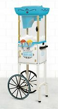 """Snow Cone Machine 48"""" Mobile Vintage Cart Electric Shave Ice Crusher Shaver Fair"""