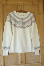 BNWT Boden Agnes Fair Isle Jumper, Ivory, Size Large (UK 16 18)