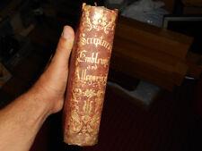 SCRIPTURE EMBLEMS and ALLEGORIES John Warner Barber 1855 Improved Edition Rare