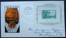 1937. 10c Green SPA souvenir sheet on 1st day cover from Asheville. Scott #797.