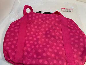 Thirty One small duffel bag Pink Lotsa Dots Polka New