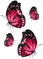 4x sticker adesivi adesivo pc wall auto moto farfalla farfalle aranccione murali