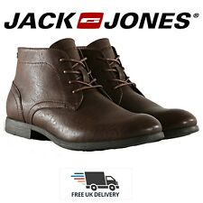 Mens Chukka Boots Jack & Jones Leather Lace Up Formal Ankle Shoes UK Size 7-12