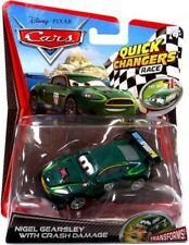 Cars 2 Quick Changers Race Nigel Gearsley with Crash Damage Diecast Car