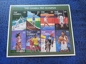 The Gambia 1996 Olympic Games Atlanta Mini Sheet MNH
