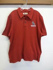 NWOT Mens Sanitas Brewing Polo by American Giant Red 100% Cotton Owl Size XL