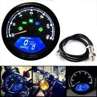 Universal Digital LCD Tachometer Speedometer Odometer Motorcycle Motorbike Gauge