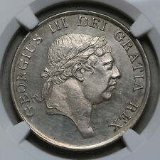 1814 UK Bank of England Silver 3 Shilling NGC MS 62 George III Rare Coin