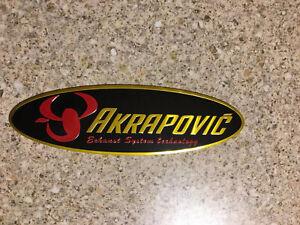 AKRAPOVIC Oval Aluminium Heat Resistant Sticker Emblem badge Decal 3D Mx Exhaust