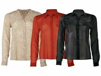 WOMEN'S blouseEsmara Blouse Black Red Leopard size 10 12 14 16 18 S M L XL XXL