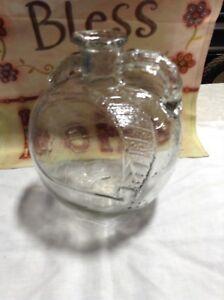 Vintage White House Apple Cider Vinegar Glass Bottle