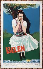 Vera Cortes Poster Pelicula Belen Serigraph Movies DIVEDCO Puerto Rico 1977