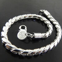 Bracelet Cuff Bangle Genuine Real 925 Sterling Silver S/F Solid Unisex Design