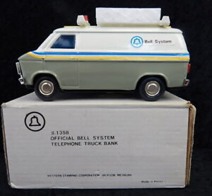 Vintage Bell System Telephone Company Promo Van Truck Bank Western Stamping