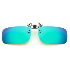 Polarised HD Anti-glare Clip On Sunglasses Night Driving Glass Spectacle Lens