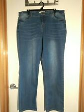 Womens size 18 stretch slouch jeans CROSSROADS mid rise blue wash faded straight