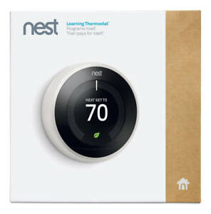 Brand New Nest Learning Smart Thermostat 3rd Generation -White-
