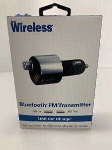 NEW IN BOX Just Wireless Wireless Bluetooth FM Transmitter w/ 3.4A/17W 2 Port US