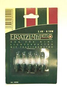 Ersatzbirnchen Ersatzlampen Mini Lichterkette mit Transformator Weiß   5 Stück
