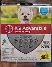 K9 Advantix Ii for Dogs 11-20lbs Repels & Kills Fleas Ticks & Mosquitos 2pk New!