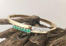 Natürliche Echtschmuck-Armbänder für Damen mit Smaragd