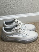 vans White shoes women Sz 5