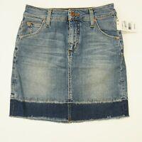 Joes Jeans Womens Skirt 24 Released Hem Denim Skirt Jemima Blue $168