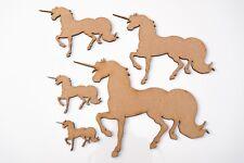 Wooden MDF Laser Cut Animal Shapes choice - Unicorn 6 cm (set of 20 items)