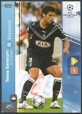 PANINI UEFA CHAMPIONS LEAGUE 2008-09- #116-BORDEAUX-YOANN GOURCUFF