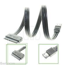 """Dual Power eSATA USB 12V 5V Combo to 2.5"""" 3.5""""22Pin SATA Hard Disk LSRG Cable"""