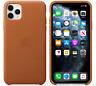 Marrón caramelo Funda Cuero Leather Case Apple Original para iPhone 11 Pro Max