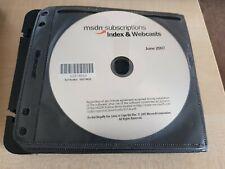 MSDN Subscriptions Index & Webcasts Discs & More!
