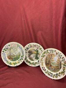 Coalport 'Woodland Seasons' Plates, Spring, Autumn & Winter, (493)