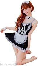 6-teiliges Zimmermädchen OUTFIT MAID: Kleid mit Schürze Armbändern Halsband etc
