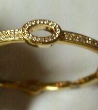Nadri Gold Tone With Clear Swarovski Crystals Bangle Brand New w tags