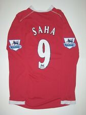 Manchester United Nike Louis Saha #9 Kit Jersey 2006 Long Sleeve France