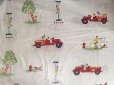 Pottery Barn Kids FIRE TRUCK Twin Flat Sheet