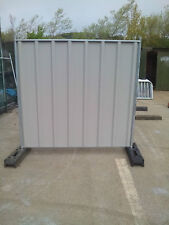 site solid hoardings security fencing Panels