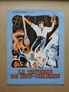 Errol Flynn Micheline Presle French pressbook 1951 Adventures of Captain Fabian