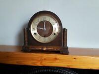 Oak Retro Westminster Chiming Mantel Clock, Spares or Repair