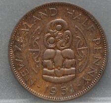 New Zealand - Nieuw Zeeland : 1/2 half penny 1951