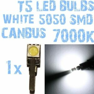 N° 1 bulb LED T5 white 7000K SMD 5050 headlights Angel Eyes DEPO FK 12v 1A41US 1