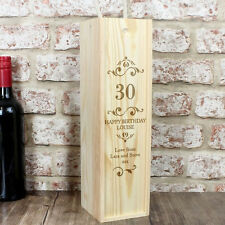 Personalised Numbers Alcohol Bottle Presentation Box - Birthday Anniversary Gift