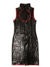Latex Kleid Schwarz Mit roten Akzenten, Gr. XL Ungetragen