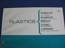 American Cyanamid Co. 1965 Catalog Asbestos Cymel, Aircraft Parts, Plastics
