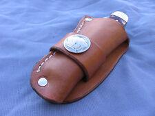 Custom Leather Trapper Knife Sheath Fits---Case---Moore Maker---Puma (Tan C)